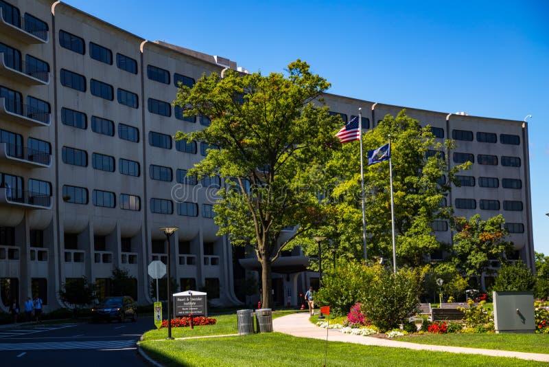 Penn State Hershey Medical Center-Buitenkant stock fotografie