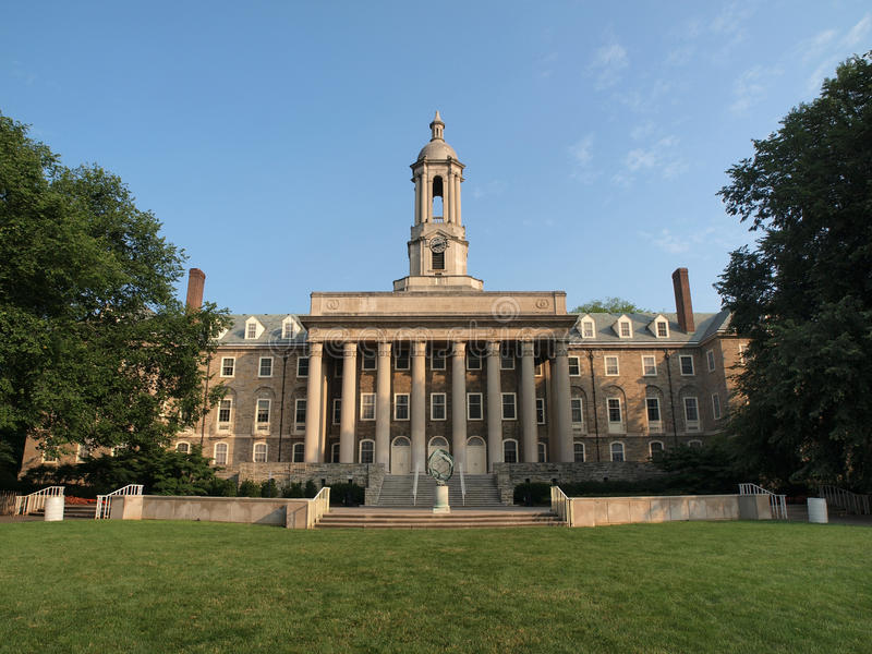 Download Penn State Old Main stock photo. Image of state, cloud - 10126390