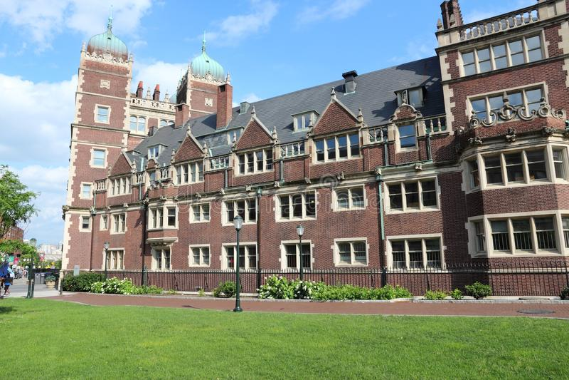 Penn State Quadrangle. Philadelphia USA - Pennsylvania State University (Penn State). Quadrangle architecture stock photo