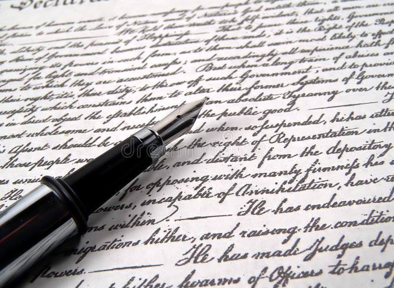Penna 2 di calligrafia immagine stock libera da diritti