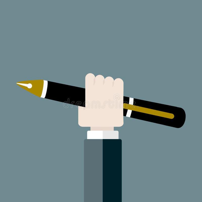 Penna royaltyfri illustrationer