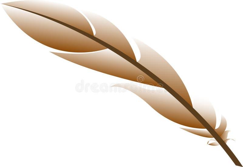 Penna antica illustrazione vettoriale