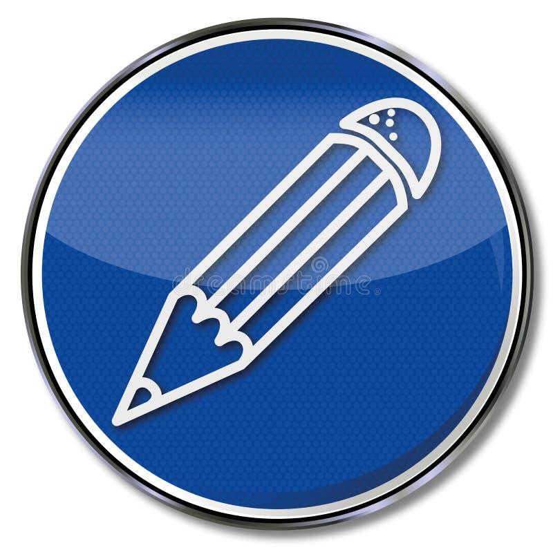 Penna blu e contabilità royalty illustrazione gratis