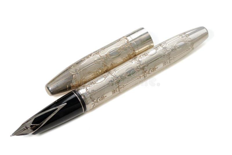 Penna decorata antiquata dell'inchiostro fotografia stock libera da diritti