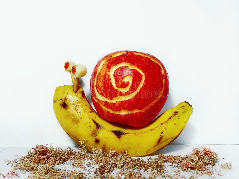 Penna del aplle della banana fotografia stock libera da diritti