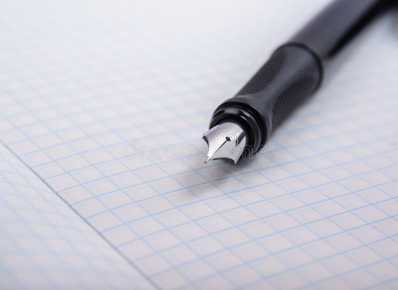 penna dell'Fontana-inchiostro immagine stock