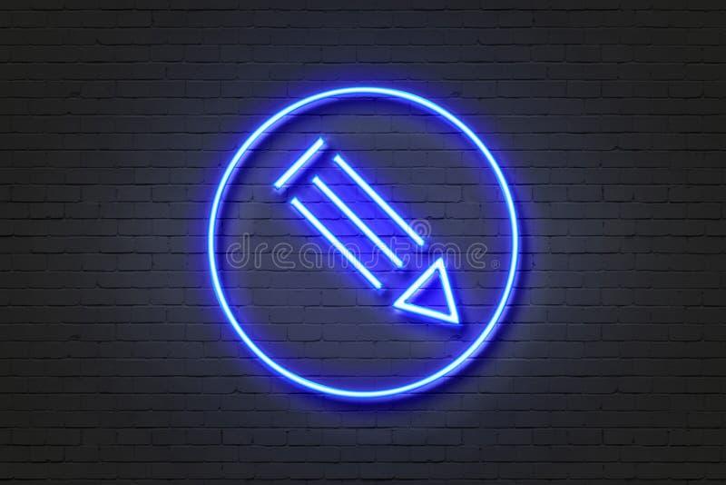 Penna dell'icona della luce al neon royalty illustrazione gratis