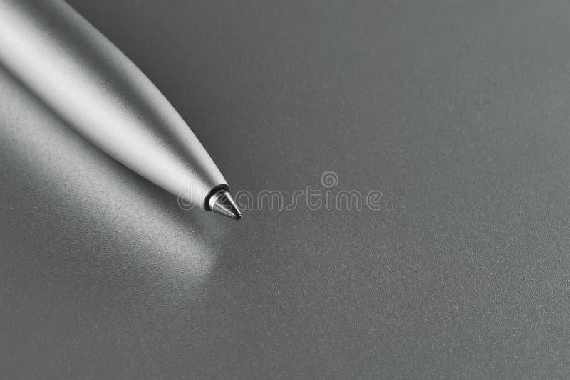 Penna di ballpoint metallica fotografia stock libera da diritti