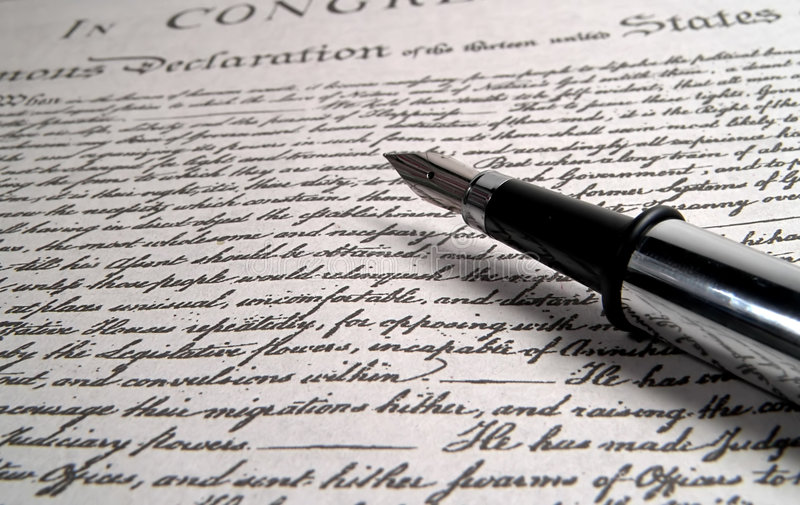 Penna di calligrafia fotografia stock libera da diritti