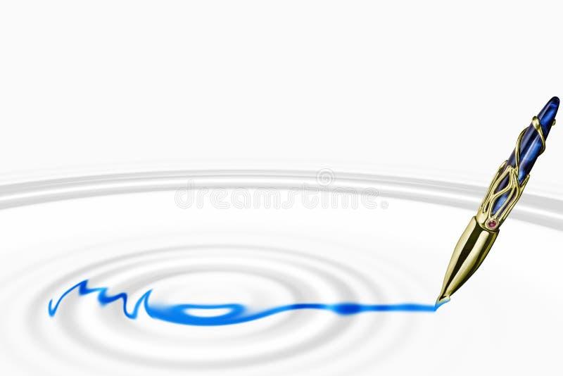 Penna di fontana con le ondulazioni royalty illustrazione gratis