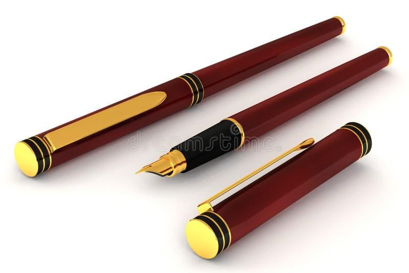 Penna di fontana rossa illustrazione vettoriale