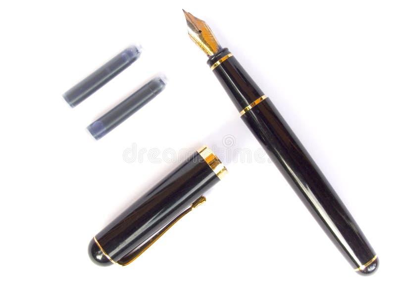 Penna e cartucce fotografie stock
