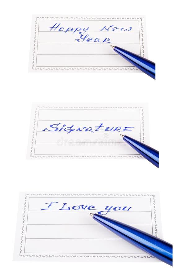 Penna e distintivo immagine stock