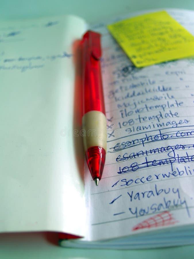 Penna e taccuino 01 fotografia stock