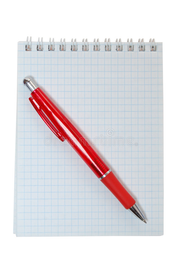 Penna e taccuino fotografia stock
