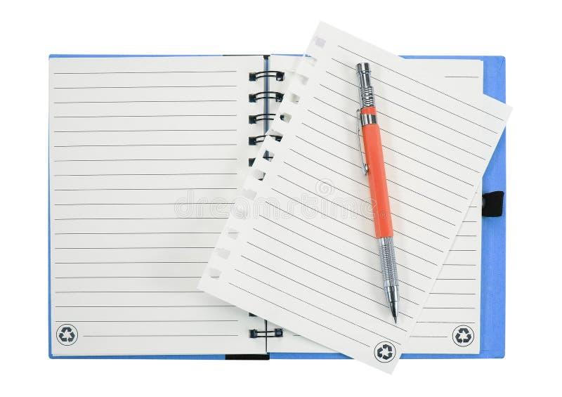 penna för bokanmärkning bakgrund isolerad white arkivfoto