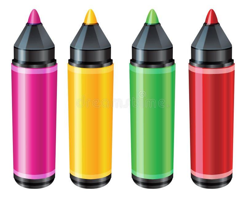 Penna för filtspets - illustration stock illustrationer