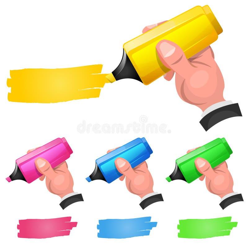 Penna a feltro Pen Highlighting Discount Coupon illustrazione di stock