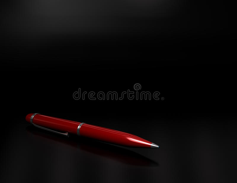Penna a sfera rossa illustrazione vettoriale