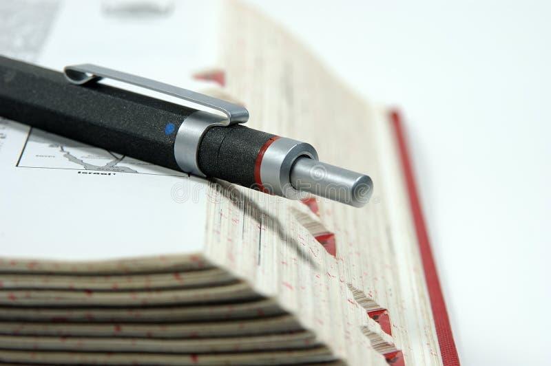 Penna sul bordo immagine stock