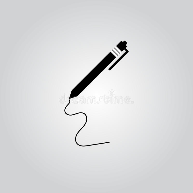 Penna - vektorsymbol royaltyfri illustrationer
