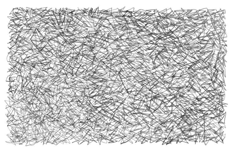 Pennan för grafitblyertspennafärgpennan klottrar, klottrar, skrapar textur royaltyfri illustrationer