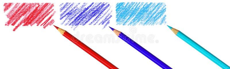pennan klottrar royaltyfri illustrationer