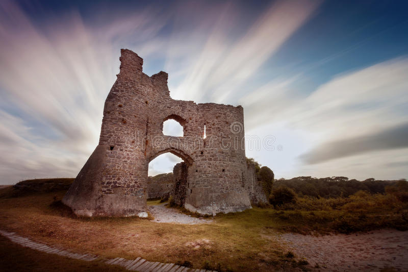 Pennard Castle ruins royalty free stock images