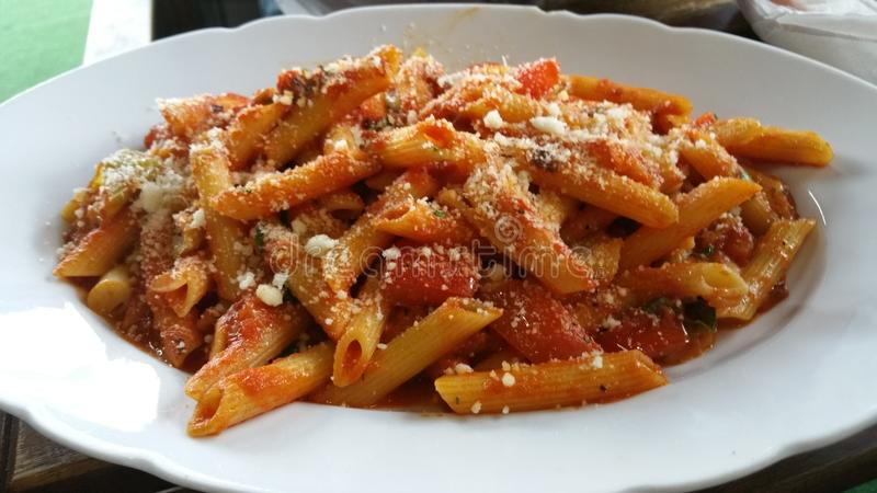 Penne all Arrabiata stock image