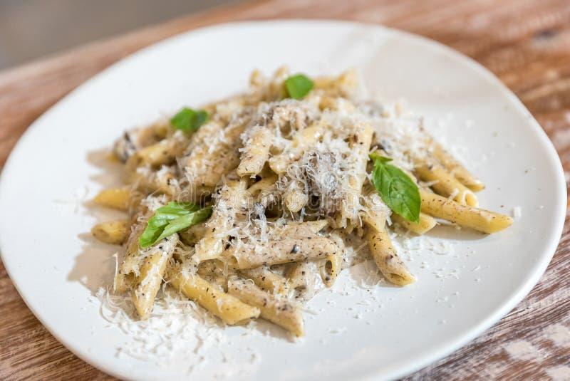 Penne Carbonara Pasta stock photos