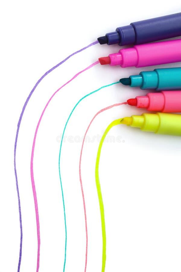 Penne del Highlighter immagine stock libera da diritti