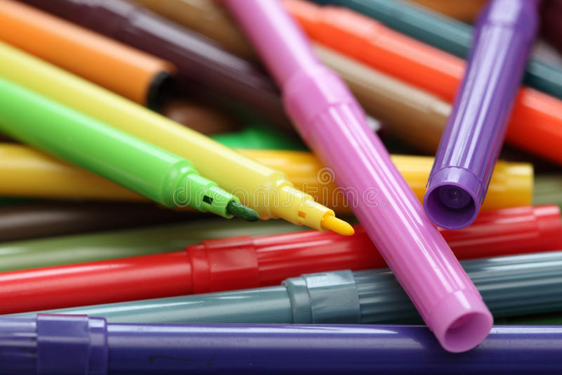 Penne di punta ritenuta colorate fotografie stock libere da diritti