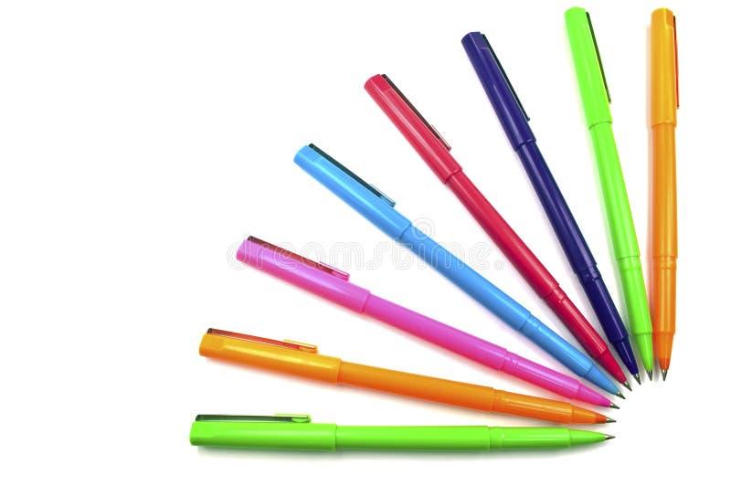 Penne multicolori fotografia stock