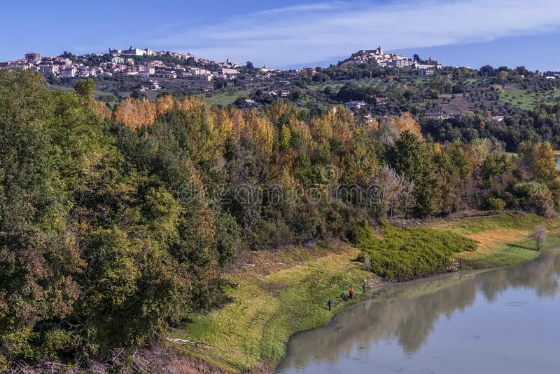 Penne-` s See, Pescara, Abruzzo, Italien lizenzfreies stockfoto
