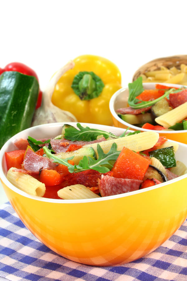 Download Penne Salad stock image. Image of peppers, pepper, pasta - 17839245