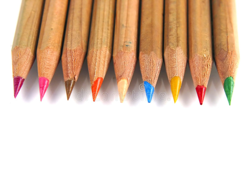 Penne variopinte (in su-vista) fotografie stock