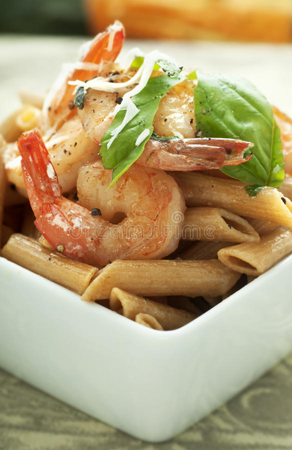Free Penne With Shrimp Royalty Free Stock Image - 21509596