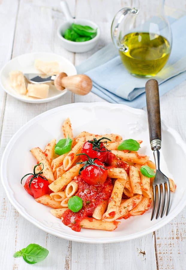 Penne z pomidorowym kumberlandem fotografia stock