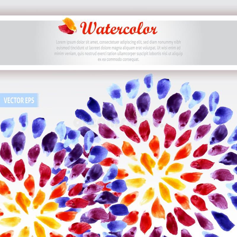 Pennellate variopinte dell'arcobaleno del modello dell'acquerello illustrazione vettoriale
