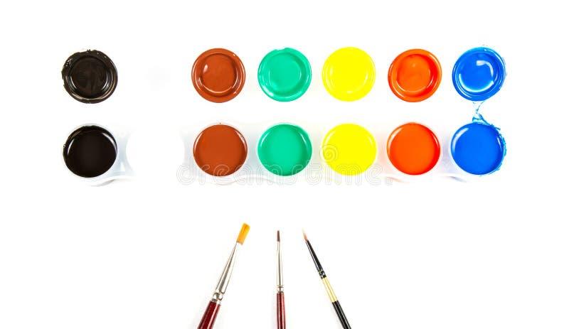 Download Pennelli e vernice fotografia stock. Immagine di vita - 56881562
