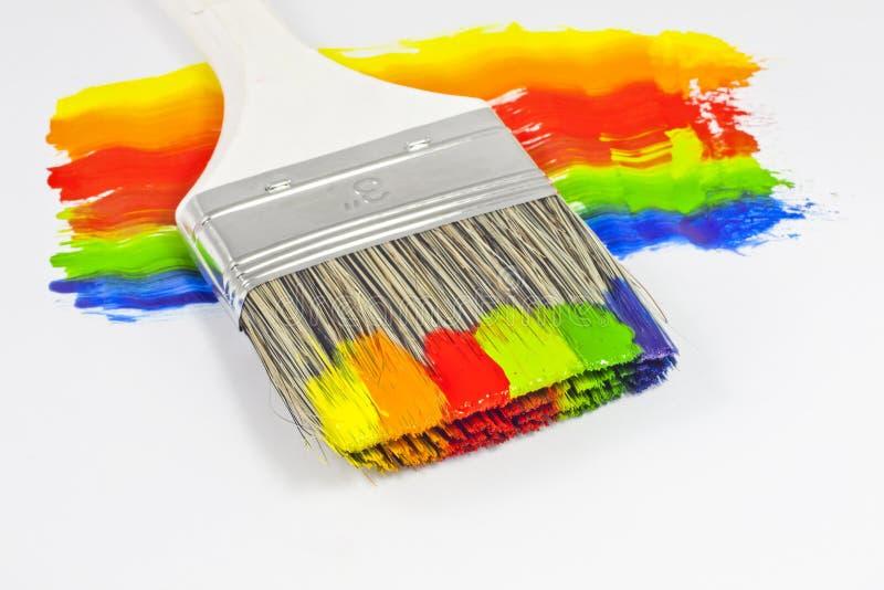Pennello multicolore fotografie stock