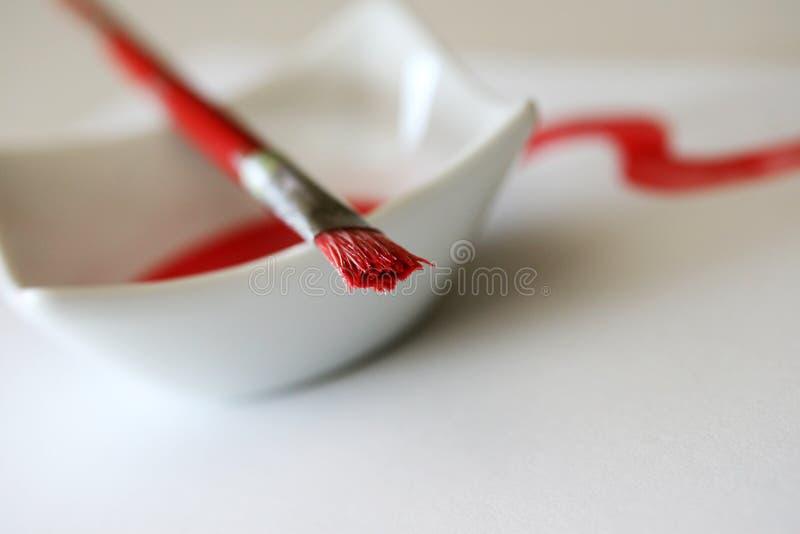Pennello rosso immagine stock