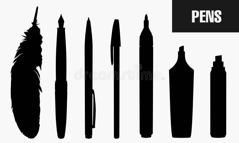Pennen vector illustratie