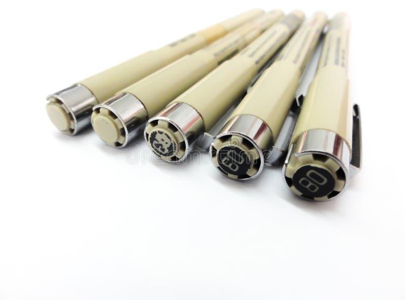pennen stock afbeeldingen
