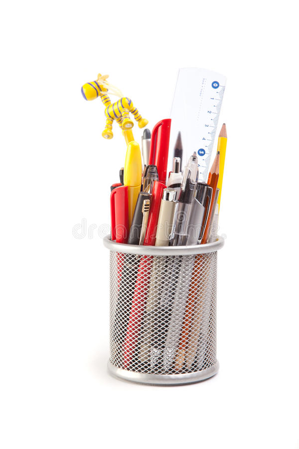 Pennen en potloden stock fotografie