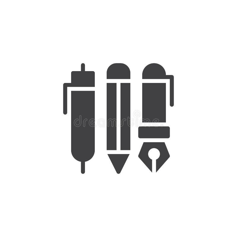 Pennen vectorpictogram stock illustratie