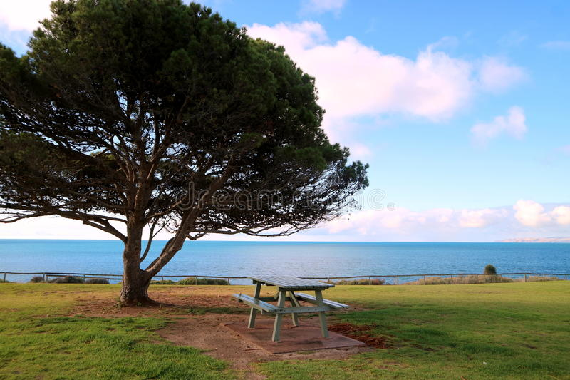 Download Penneshaw stock image. Image of beautiful, rocks, bench - 92632935