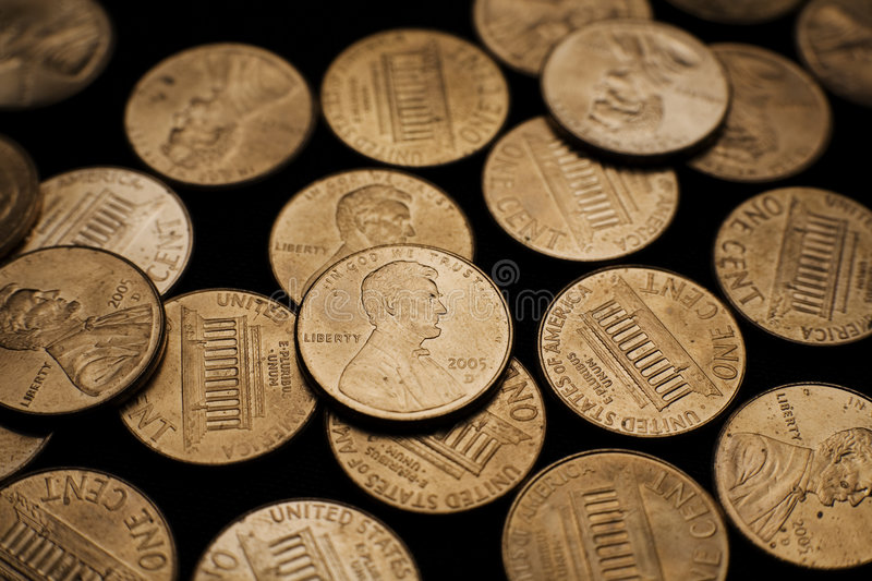 Download Pennies 3 stock image. Image of cents, penny, isolated - 2602367