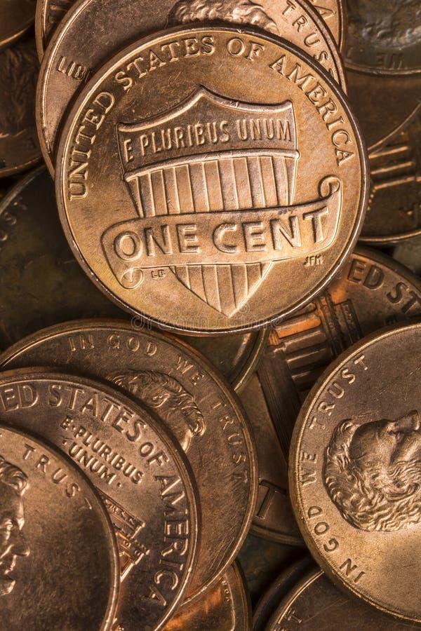 pennies lizenzfreies stockfoto