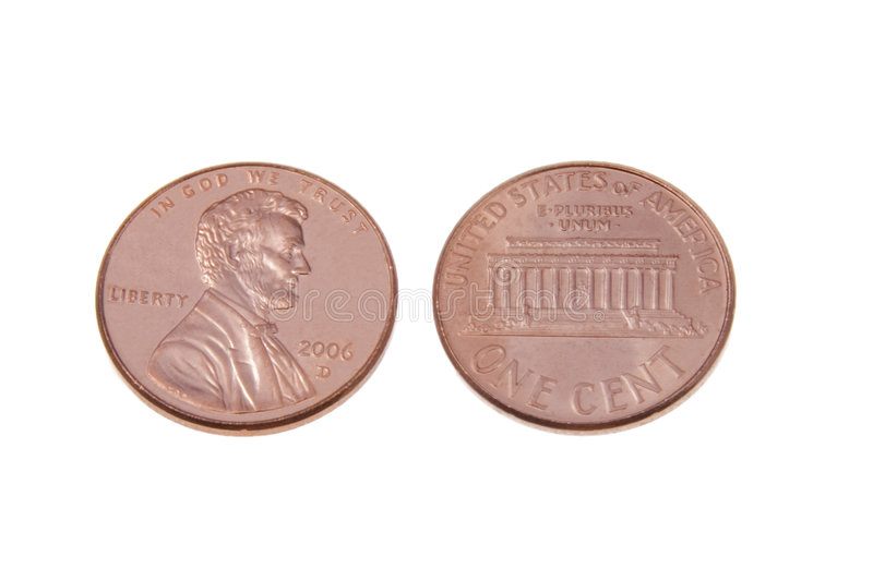 Pennies stock photos